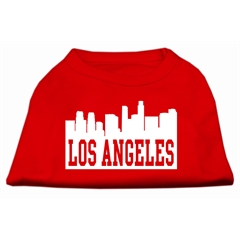 Mirage Pet Products Los Angeles Skyline Screen Print Shirt Red XXL (18)
