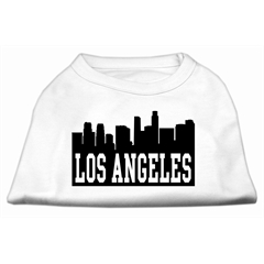 Mirage Pet Products Los Angeles Skyline Screen Print Shirt White Med (12)