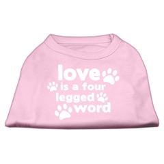 Mirage Pet Products Love is a Four Leg Word Screen Print Shirt Light Pink Lg (14)