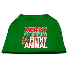 Mirage Pet Products Ya Filthy Animal Screen Print Pet Shirt Emerald Green XS (8)