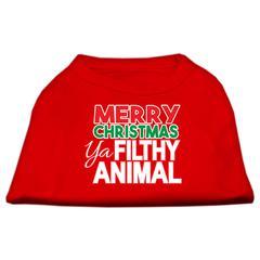 Mirage Pet Products Ya Filthy Animal Screen Print Pet Shirt Red XS (8)