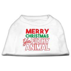 Mirage Pet Products Ya Filthy Animal Screen Print Pet Shirt White XS (8)