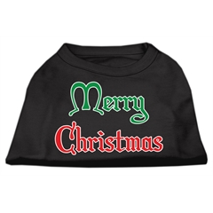 Mirage Pet Products Merry Christmas Screen Print Shirt Black  Sm (10)