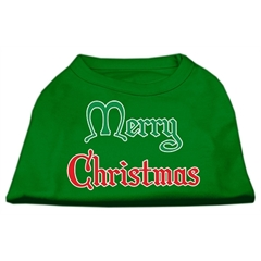Mirage Pet Products Merry Christmas Screen Print Shirt Emerald Green XL (16)
