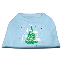 Mirage Pet Products Scribbled Merry Christmas Screenprint Shirts  Baby Blue L (14)