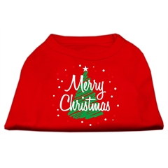 Mirage Pet Products Scribbled Merry Christmas Screenprint Shirts  Red L (14)