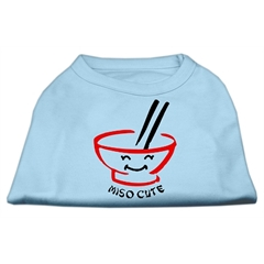 Mirage Pet Products Miso Cute Screen Print Shirts Baby Blue Lg (14)