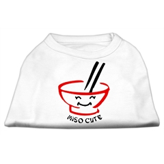 Mirage Pet Products Miso Cute Screen Print Shirts White Lg (14)