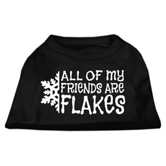 Mirage Pet Products All my friends are Flakes Screen Print Shirt Black M (12)