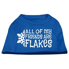 Mirage Pet Products All my Friends are Flakes Screen Print Shirt Blue XXL (18)