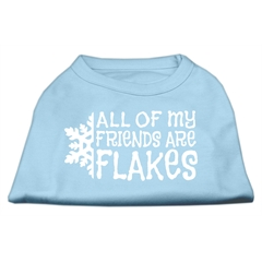 Mirage Pet Products All my friends are Flakes Screen Print Shirt Baby Blue L (14)