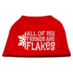 Mirage Pet Products All my friends are Flakes Screen Print Shirt Red XXL (18)