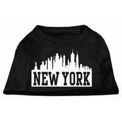 Mirage Pet Products New York Skyline Screen Print Shirt Black Med (12)