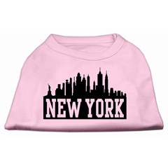 Mirage Pet Products New York Skyline Screen Print Shirt Light Pink Lg (14)