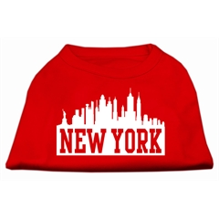 Mirage Pet Products New York Skyline Screen Print Shirt Red Sm (10)