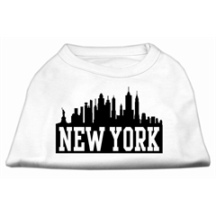 Mirage Pet Products New York Skyline Screen Print Shirt White XS (8)