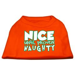 Mirage Pet Products Nice until proven Naughty Screen Print Pet Shirt Orange XS (8)