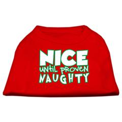 Mirage Pet Products Nice until proven Naughty Screen Print Pet Shirt Red XS (8)