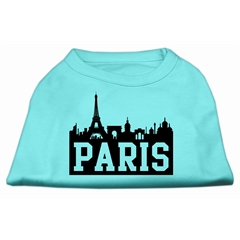Mirage Pet Products Paris Skyline Screen Print Shirt Aqua XL (16)