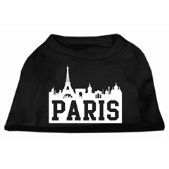 Mirage Pet Products Paris Skyline Screen Print Shirt Black XL (16)