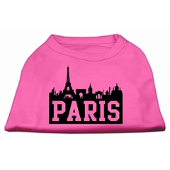 Mirage Pet Products Paris Skyline Screen Print Shirt Bright Pink XS (8)