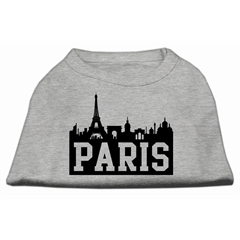Mirage Pet Products Paris Skyline Screen Print Shirt Grey XXXL (20)