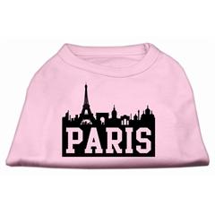 Mirage Pet Products Paris Skyline Screen Print Shirt Light Pink XL (16)