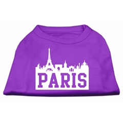 Mirage Pet Products Paris Skyline Screen Print Shirt Purple Med (12)