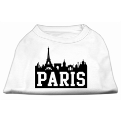 Mirage Pet Products Paris Skyline Screen Print Shirt White Lg (14)