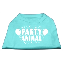 Mirage Pet Products Party Animal Screen Print Shirt Aqua XXXL (20)
