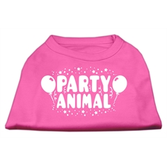 Mirage Pet Products Party Animal Screen Print Shirt Bright Pink Sm (10)
