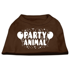 Mirage Pet Products Party Animal Screen Print Shirt Brown Med (12)