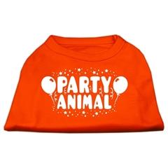 Mirage Pet Products Party Animal Screen Print Shirt Orange Lg (14)