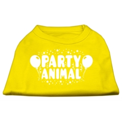 Mirage Pet Products Party Animal Screen Print Shirt Yellow XXL (18)