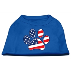 Mirage Pet Products Patriotic Paw Screen Print Shirts Blue XL (16)