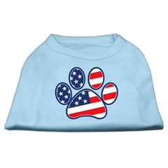 Mirage Pet Products Patriotic Paw Screen Print Shirts Baby Blue XXL (18)