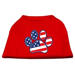Mirage Pet Products Patriotic Paw Screen Print Shirts Red L (14)
