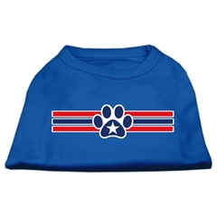 Mirage Pet Products Patriotic Star Paw Screen Print Shirts Blue XXL (18)