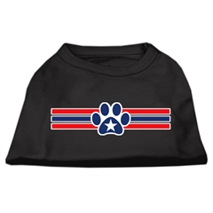 Mirage Pet Products Patriotic Star Paw Screen Print Shirts Black XXL (18)