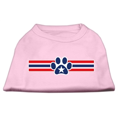 Mirage Pet Products Patriotic Star Paw Screen Print Shirts Light Pink XL (16)