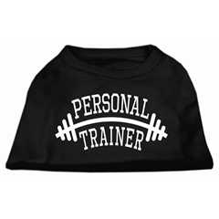Mirage Pet Products Personal Trainer Screen Print Shirt Black 5X (24)