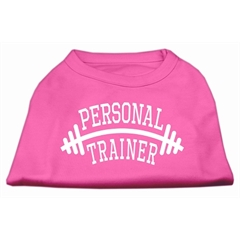 Mirage Pet Products Personal Trainer Screen Print Shirt Bright Pink Lg (14)