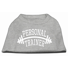 Mirage Pet Products Personal Trainer Screen Print Shirt Grey Lg (14)