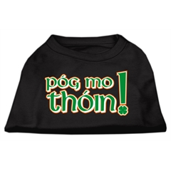 Mirage Pet Products Pog Mo Thoin Screen Print Shirt Black  XS (8)