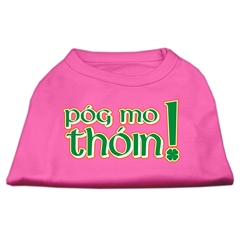 Mirage Pet Products Pog Mo Thoin Screen Print Shirt Bright Pink Sm (10)