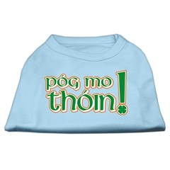 Mirage Pet Products Pog Mo Thoin Screen Print Shirt Baby Blue XXXL (20)