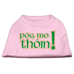 Mirage Pet Products Pog Mo Thoin Screen Print Shirt Light Pink  XXXL (20)