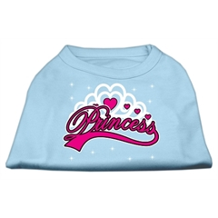 Mirage Pet Products I'm a Princess Screen Print Shirts Baby Blue Med (12)