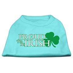 Mirage Pet Products Proud to be Irish Screen Print Shirt Aqua XS (8)