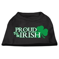 Mirage Pet Products Proud to be Irish Screen Print Shirt Black  XS (8)
